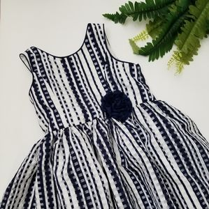 PIPPA AND JULIE NAVY WHITE DRESS 3T